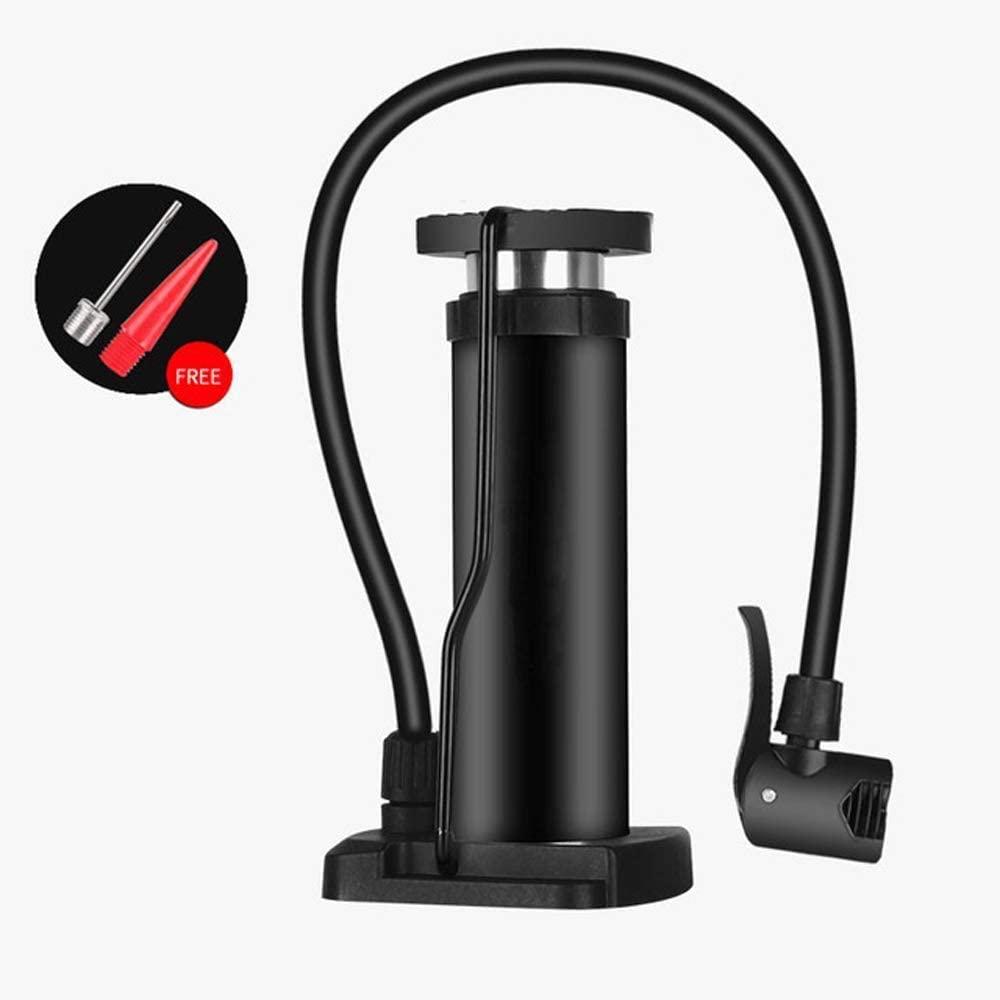 Bike Floor Foot Pump with Inflation Needle,MASO Portable Cycling Tire Pump Car Motorbike Ball High Pressure Pump Universal Presta & Schrader Valve(Black)