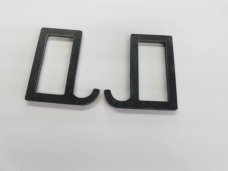 US Metal Works 2 X 4 Steel Gong Hook Hanger (2 Pack)