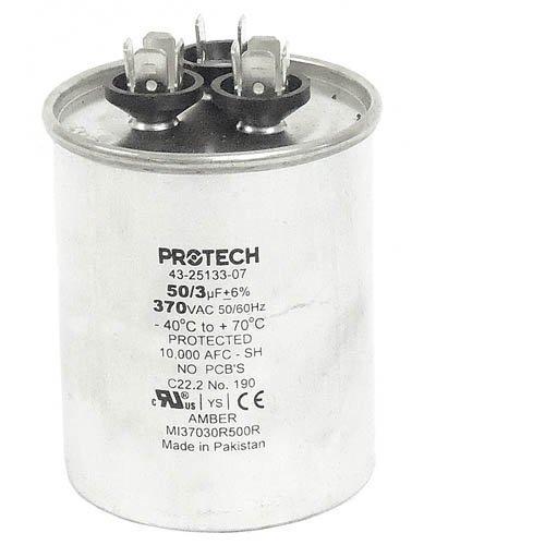 43-23204-14 -Rheem OEM Round Replacement Dual Run Capacitor 50 + 3 UF/MFD 370 Volt