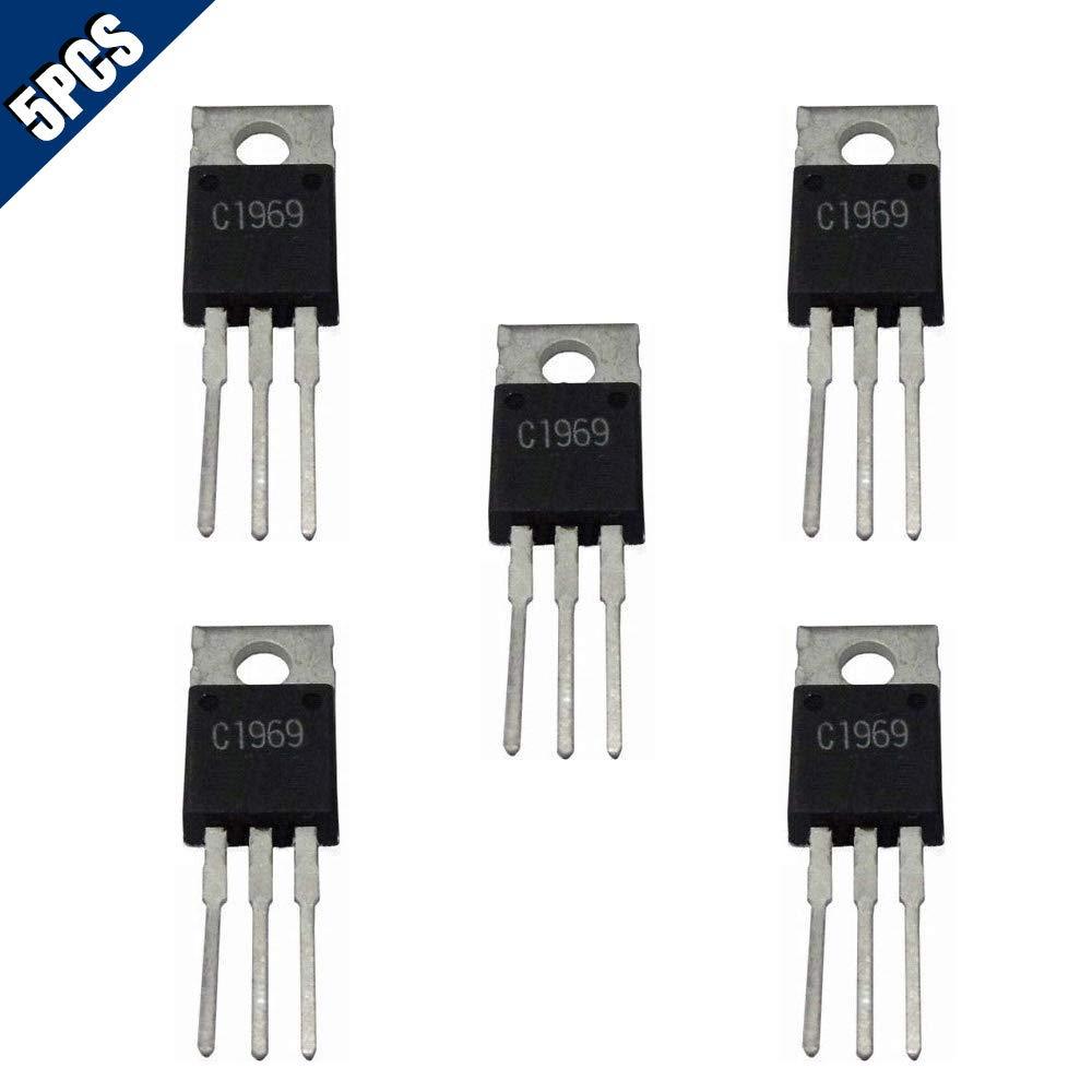 Comidox 5PCS 2SC1969 C1969 TO-220 RF Power Transistor EPITAX IC Chip