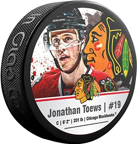 NHL Jonathan Toews Chicago Blackhawks Sher-Wood Stars Photo Hockey Puck