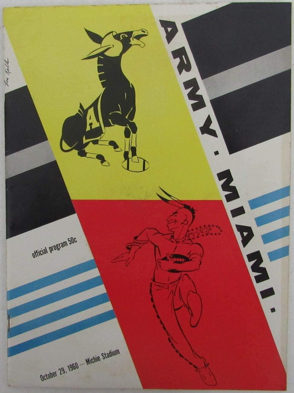 1960 Army vs. Miami College Football Game Program 148796