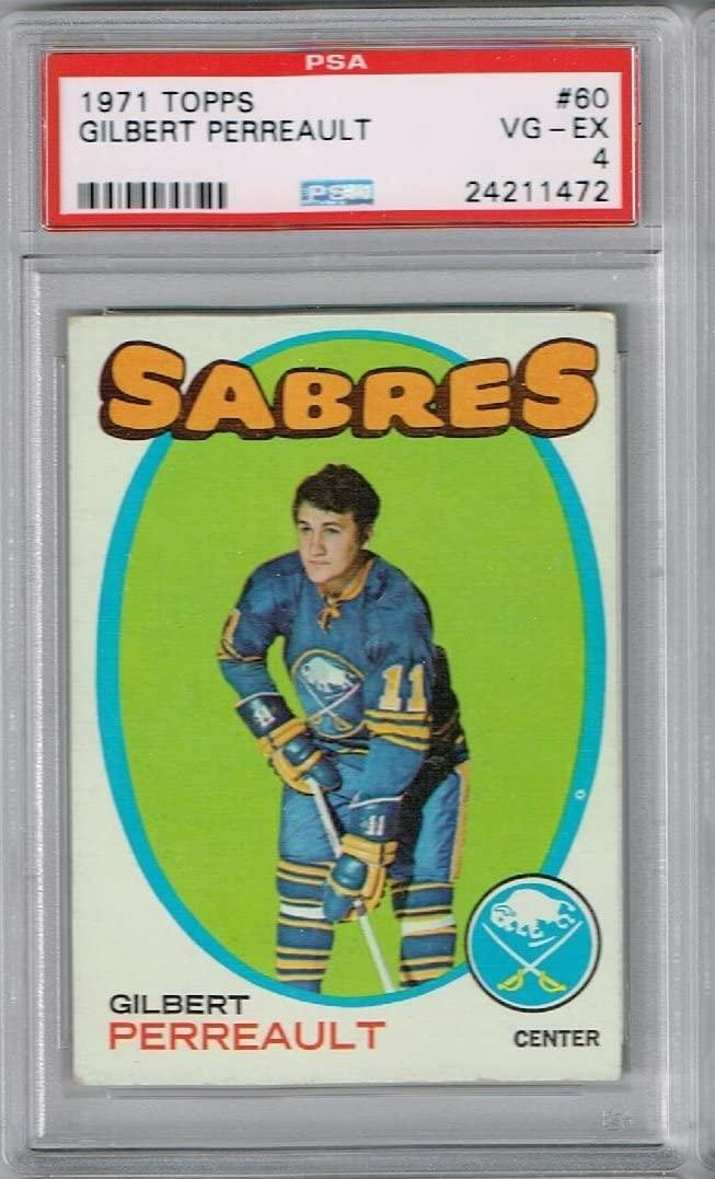 PSA 4 1971 Topps Hockey Gilbert Perreault Rookie Card #60 Buffalo Sabres