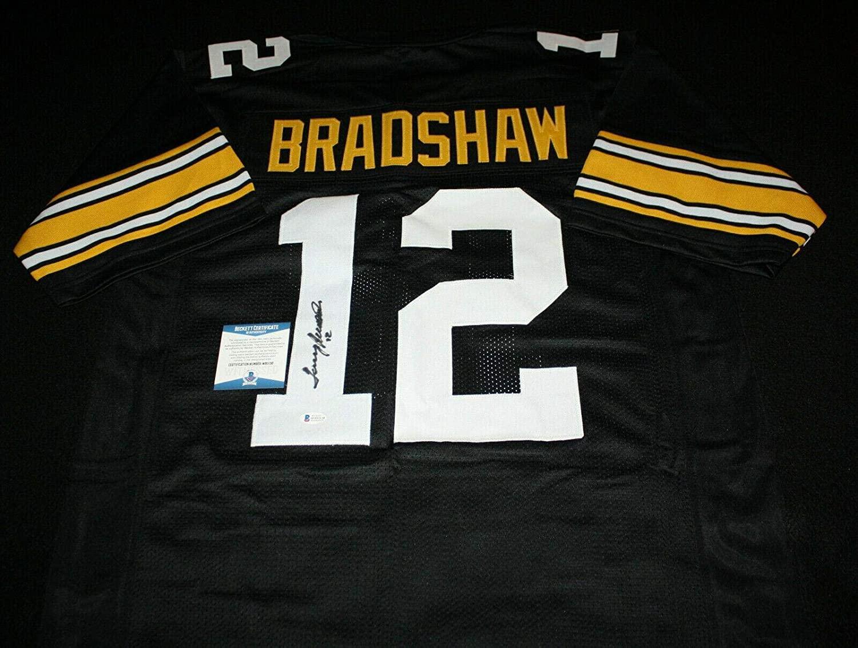 Terry Bradshaw Signed Jersey - Bulldogs Beckett BAS - Beckett Authentication - Autographed NFL Jerseys