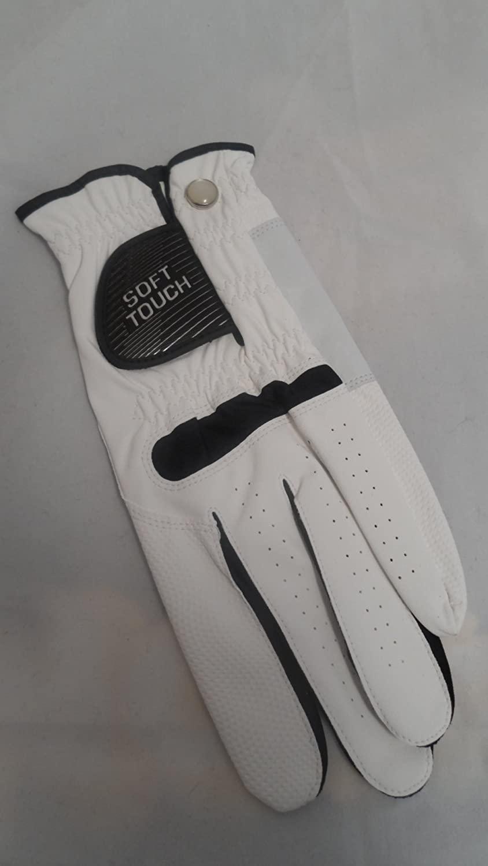 Soft Touch Microfiber Golf Glove White Ladies LH Medium