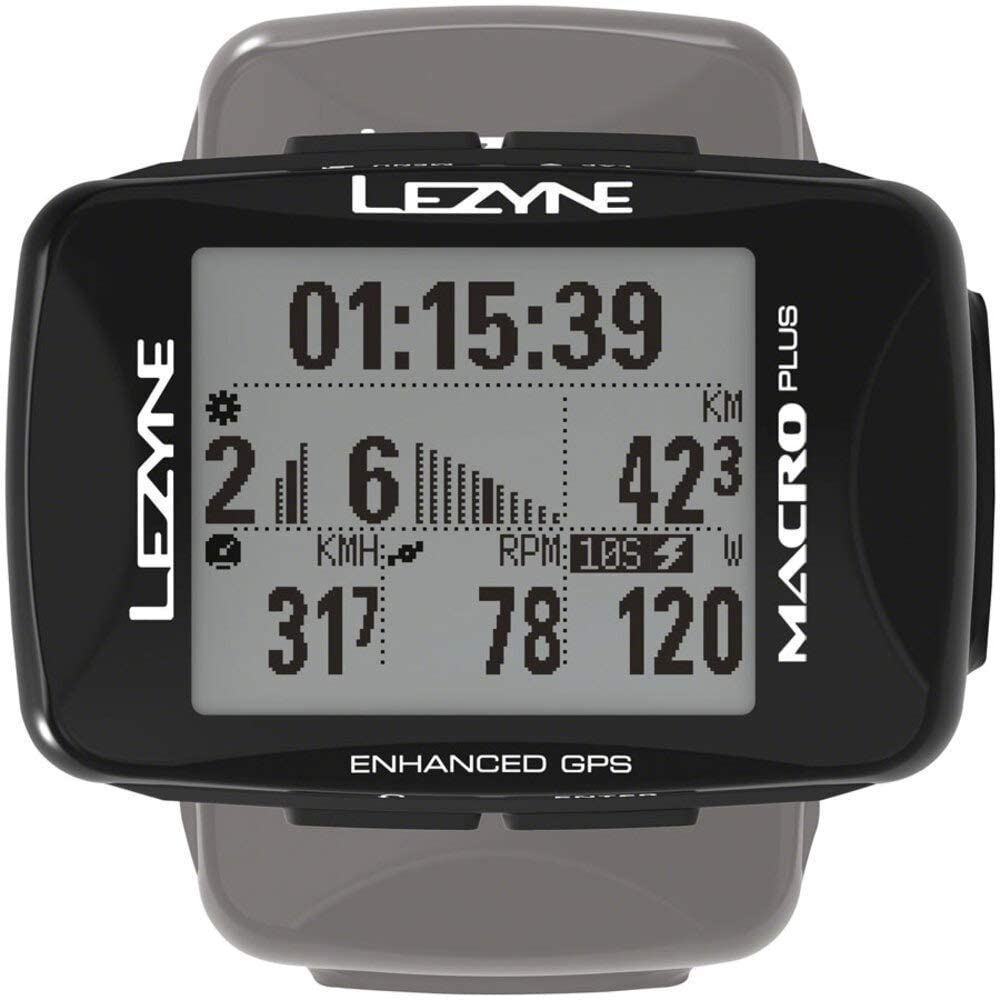 LEZYNE Macro Plus Bicycle GPS Computer, Bluetooth Smart Connectivity, 28 Hour Runtime, USB Rechargeable, Cycling GPS