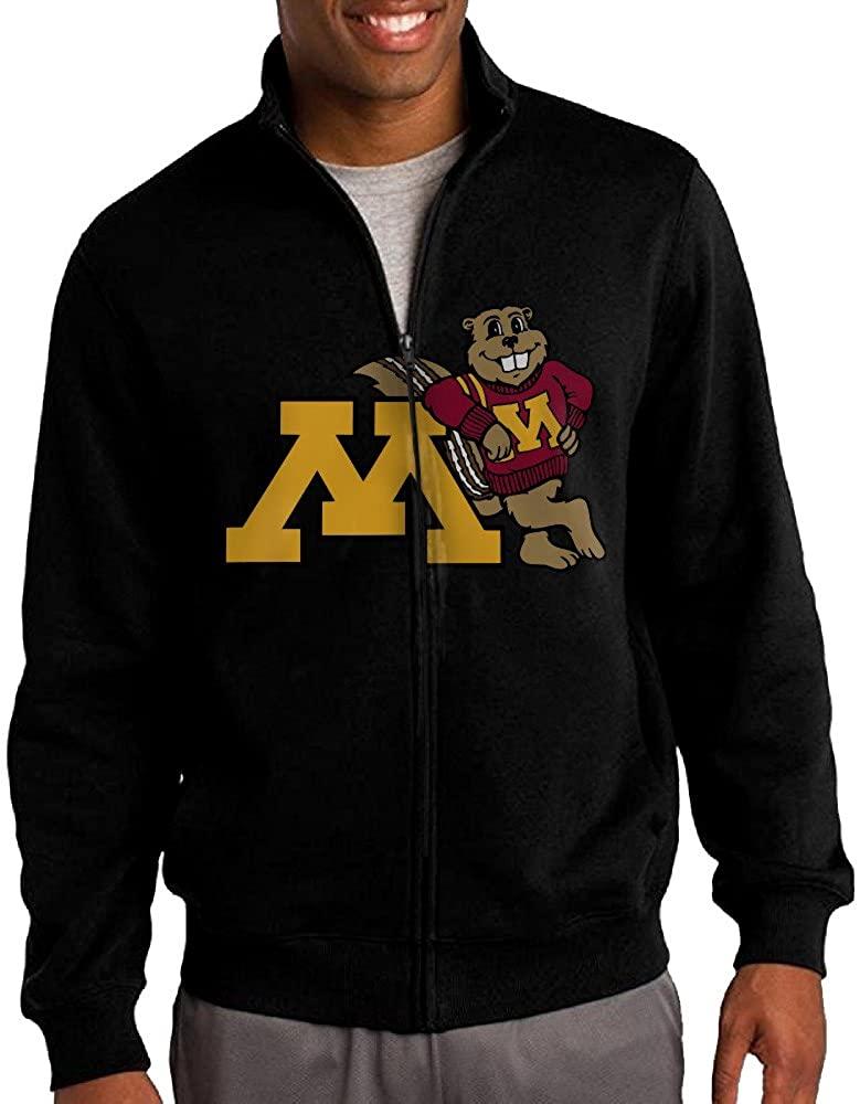 ILKU Men's University Of Minnesota Full Zip Hoodie Jackets Black