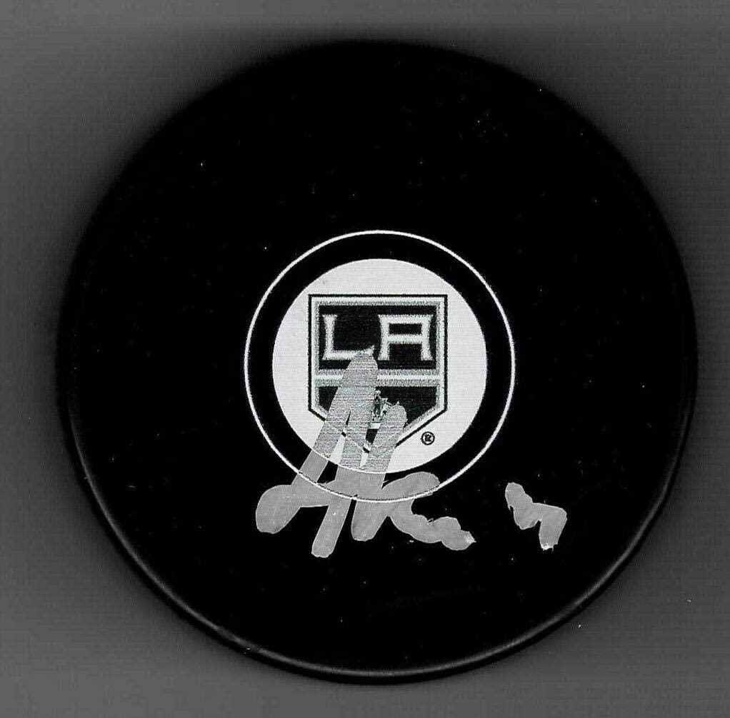 Arthur Kaliyev Signed Los Angeles Kings Puck - Autographed NHL Pucks