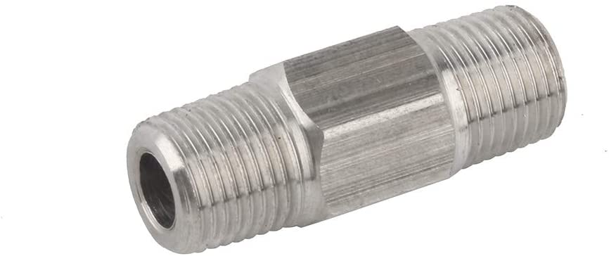Gurlleu 1/8 NPT Male to Male Connector Stainless Steel PCP Paintball Filling Adapter
