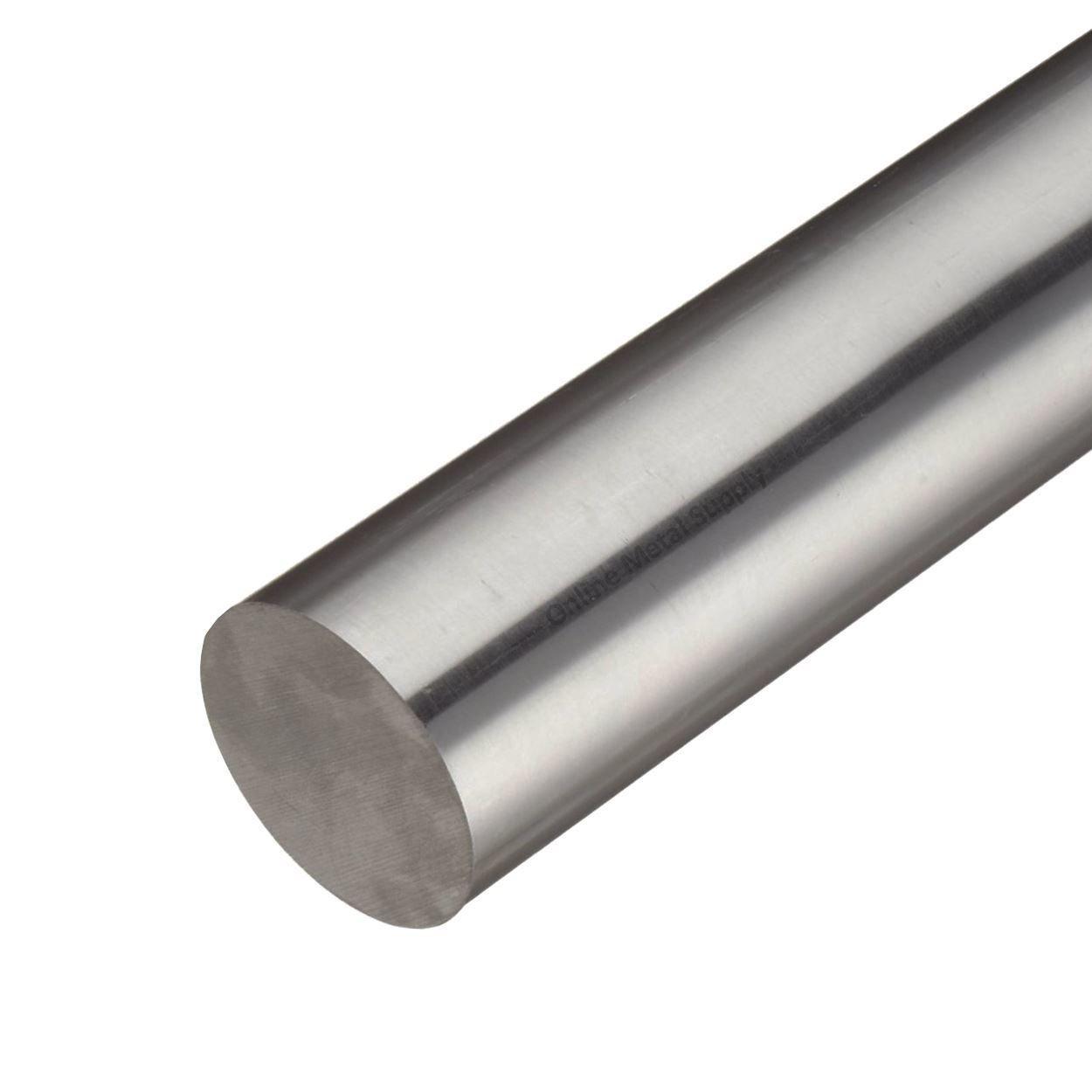 Online Metal Supply Alloy 718 Nickel Round Rod, 1.250 (1-1/4 inch) x 3 inches