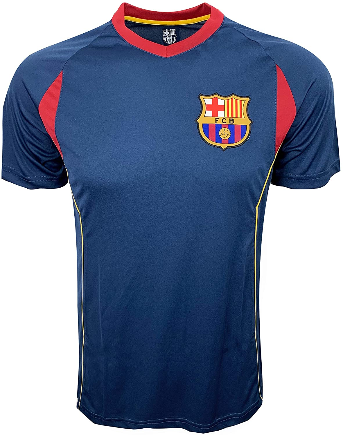 Barcelona Training Jersey, for Kids and Adults, Performance Polyester -Shirts (Youth Medium 7-9 Years)