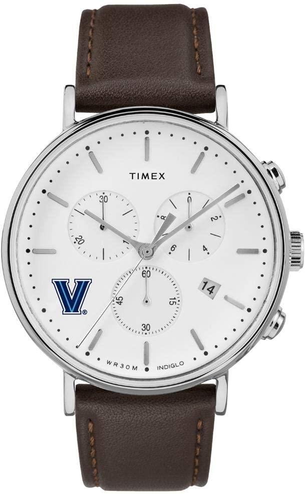 Timex MensVillanova University Watch Chronograph Leather Band Watch