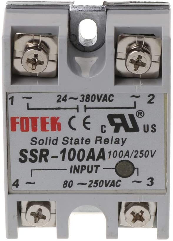 MALLdor 24V-380V SSR-100AA 100A AC-AC Solid State Relay Module Temperature Controller