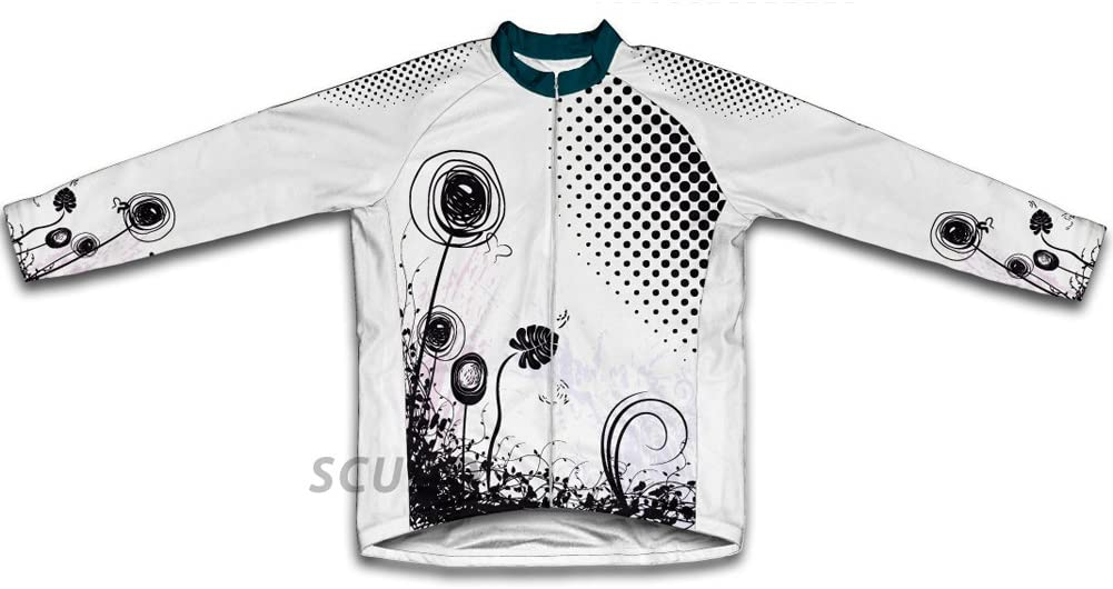 ScudoPro Rotating Flower Long Sleeve Cycling Jersey for Men