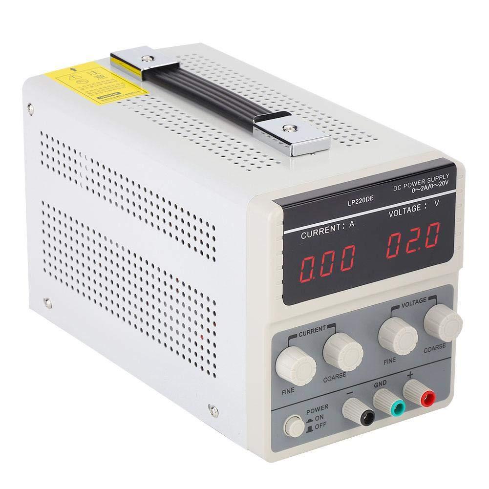 DC Stabilizer Power for Supply,Overload Protection DC Regulator 110/220V LP220DE 20V 2A Adjustable (US)