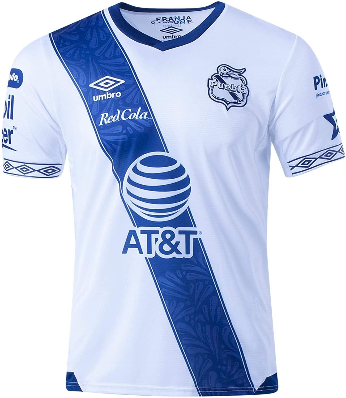 Umbro 2019-20 Puebla Home Jersey - White-Navy S