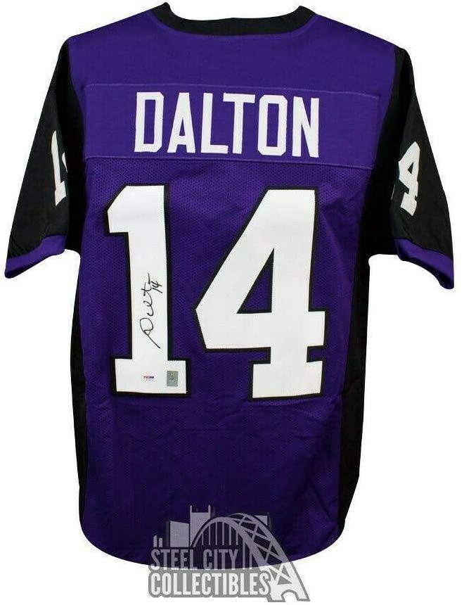 Andy Dalton Signed Jersey - Custom Purple Football - PSA/DNA Certified - Autographed College Jerseys