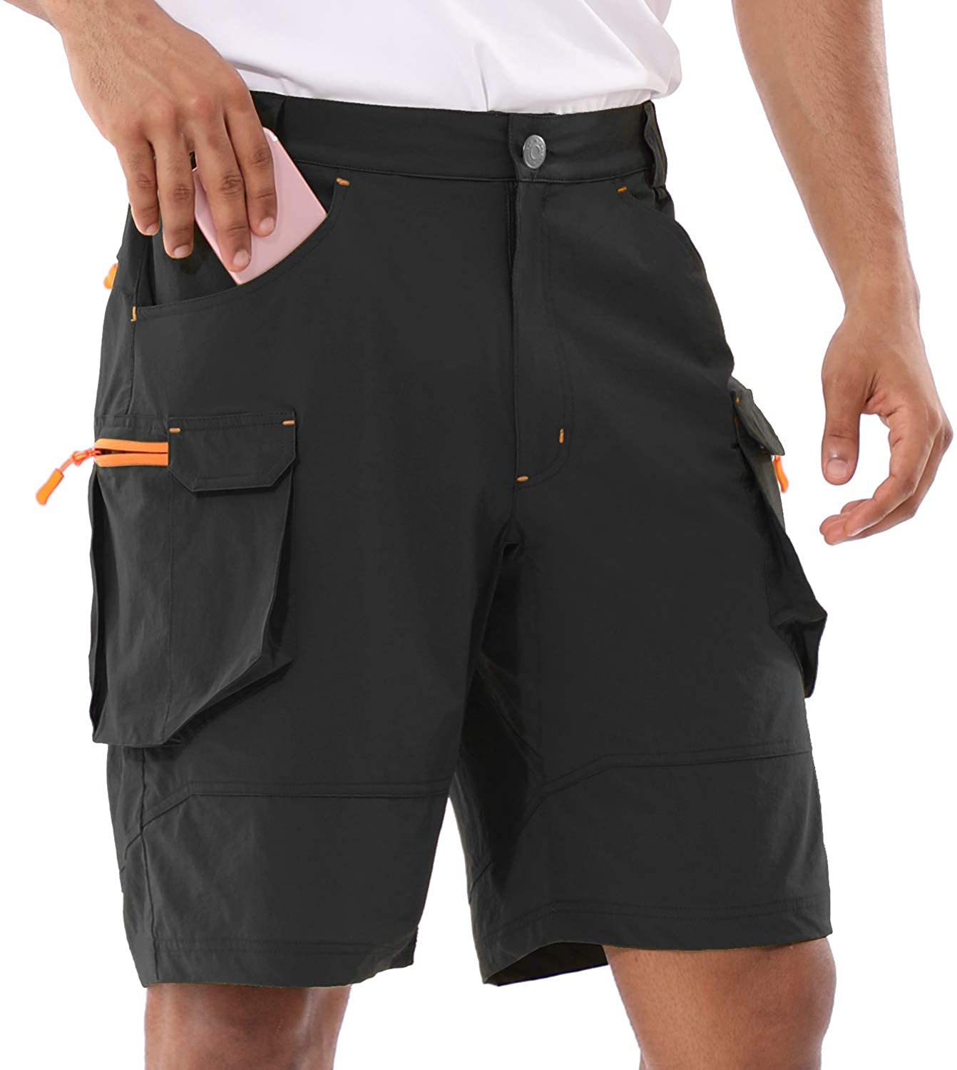 BALEAF Men's Hiking Cargo Shorts UPF50+ Multi Pocketed Quick Dry Tactical Casual Short Summer Outdoor Camping Travel
