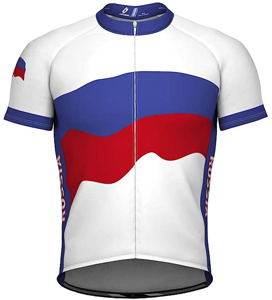 Russia Emblem Full Zipper Bike Short Sleeve Cycling Jersey for Women