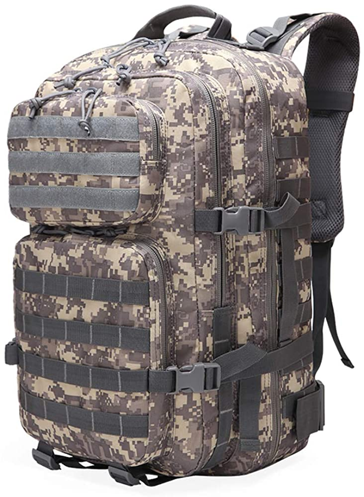 Suoki 45L Molle Rucksack Outdoor Bug Out Bag Hiking Camping Backpack for Men Women