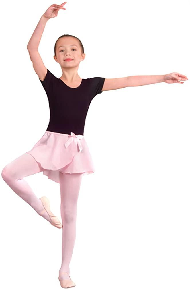 Danshuz Girls Mock Wrap Georgette Skirt T/S PURPLE