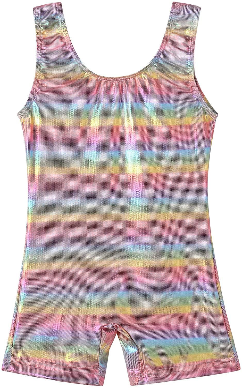 TUTU Gymnastics Biketards Leotards for Girls Sparkle Athletic Dance Clothes Activewear