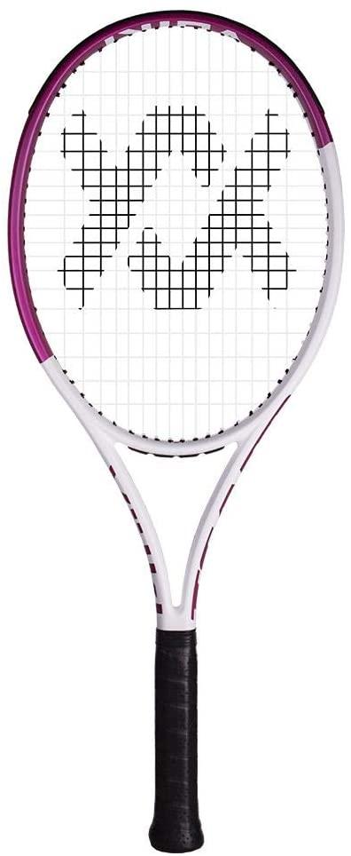 Volkl Team Speed White and Pink Prestrung Tennis Racquet ()