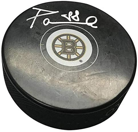 David Pastrnak Signed Puck - Autographed NHL Pucks