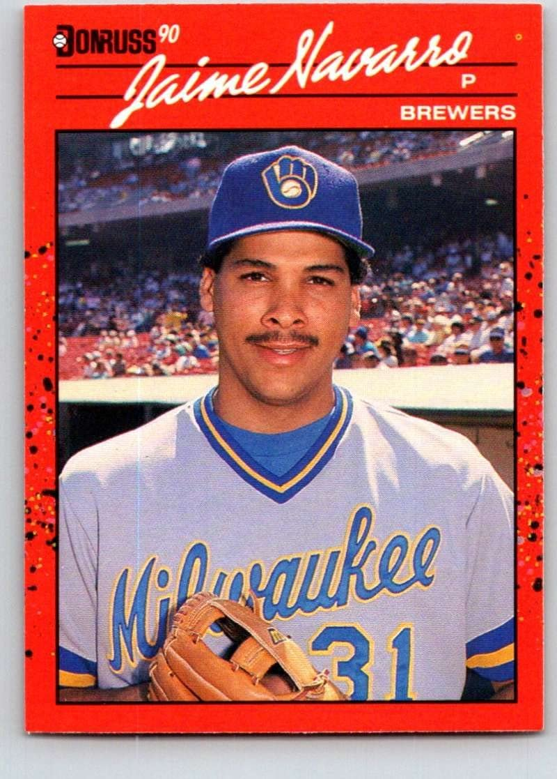 1990 Donruss #640 Jaime Navarro Mint Baseball MLB Brewers