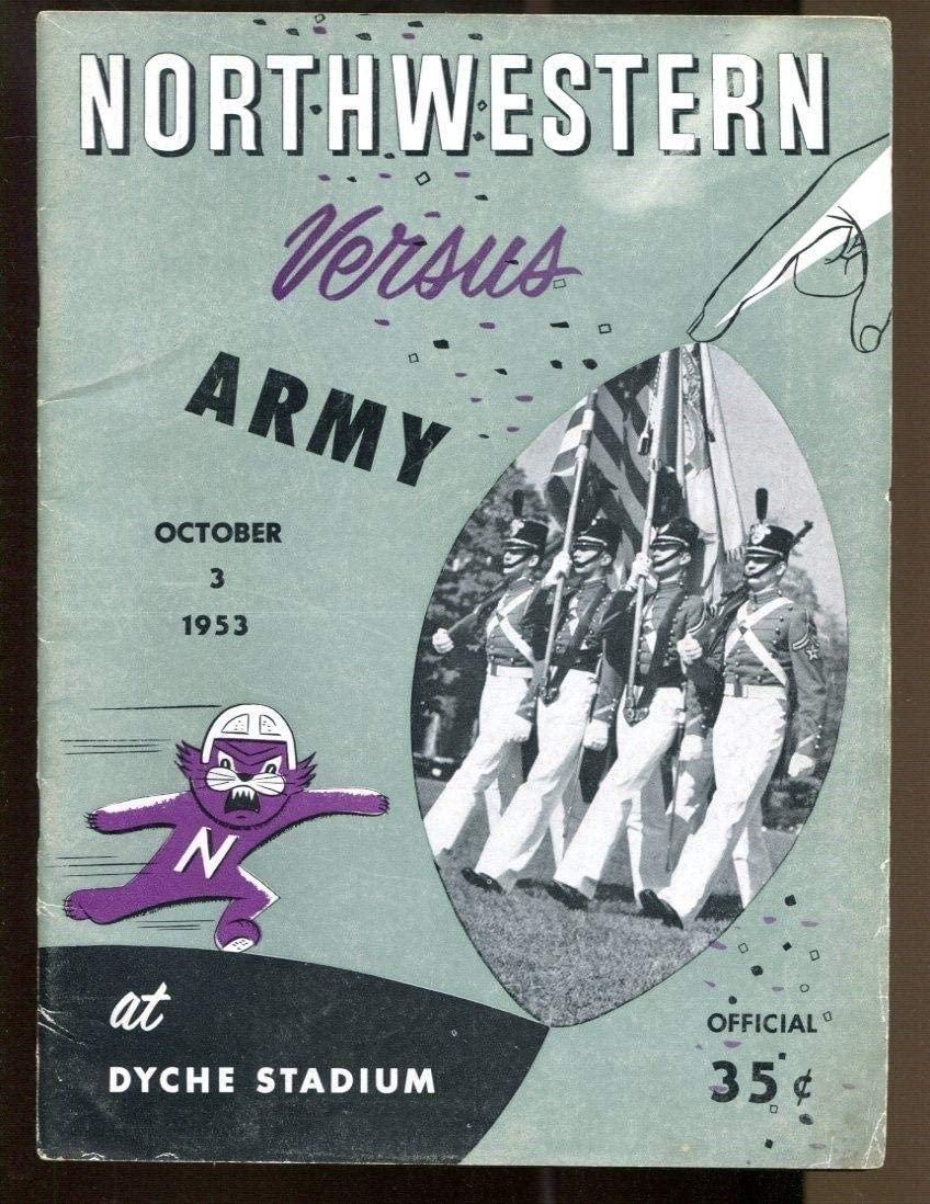1953 Northwestern v Army Football Program 10/3 Dyche Stadium Ex 43772 - College Programs