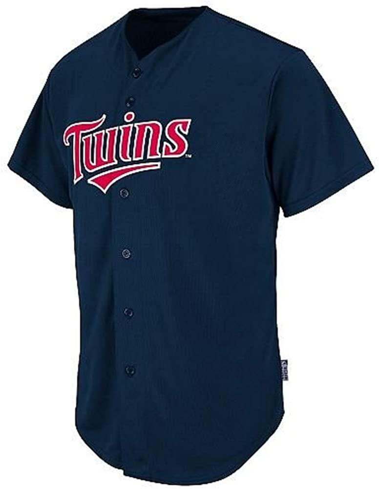 Majestic Athletic Youth Large Minnesota Twins Blank Back Major League Baseball Cool-Base Replica MLB Jersey Navy Blue