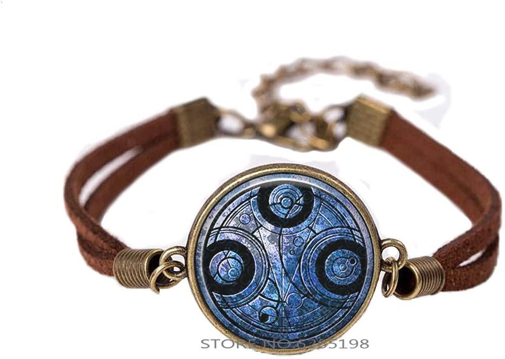 Time Lord Seal Bangle Bracelet Jewelry Time Lord Jewelry Time Lord Bangle.Time Lord Seal Art Glass Dome Bangle,N352