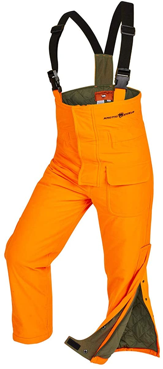 ArcticShield Youth Classic Elite Bib Pants, Blaze Orange, Youth Large