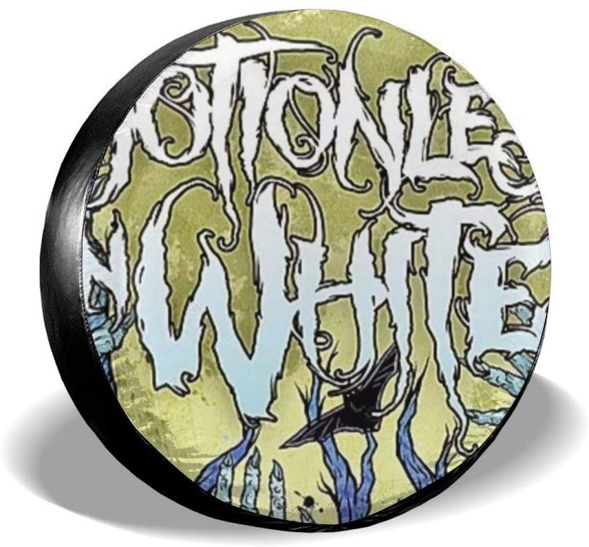 N/C Motionless in White Niversal Spare Tire Cover Waterproof Dust-Proof Wheel Protector Fit Jeep, Rv, SUV, Truck Dead-Pool Car Accessories (14,15,16,17 Inch)