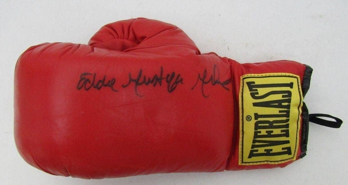 Eddie Mustafa Muhammad Signed Everlast Boxing Glove 134512 - JSA Certified - Autographed Boxing Gloves