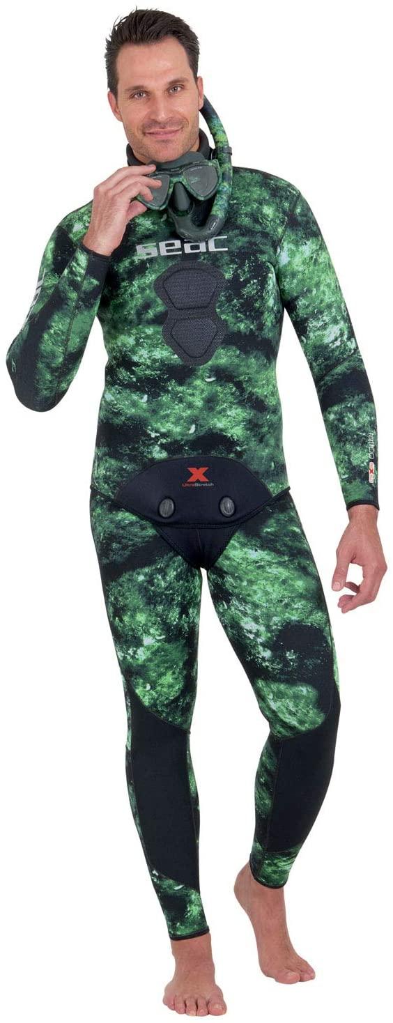 SEAC Tattoo Flex Green Spearfishing Suit Jacket 5mm