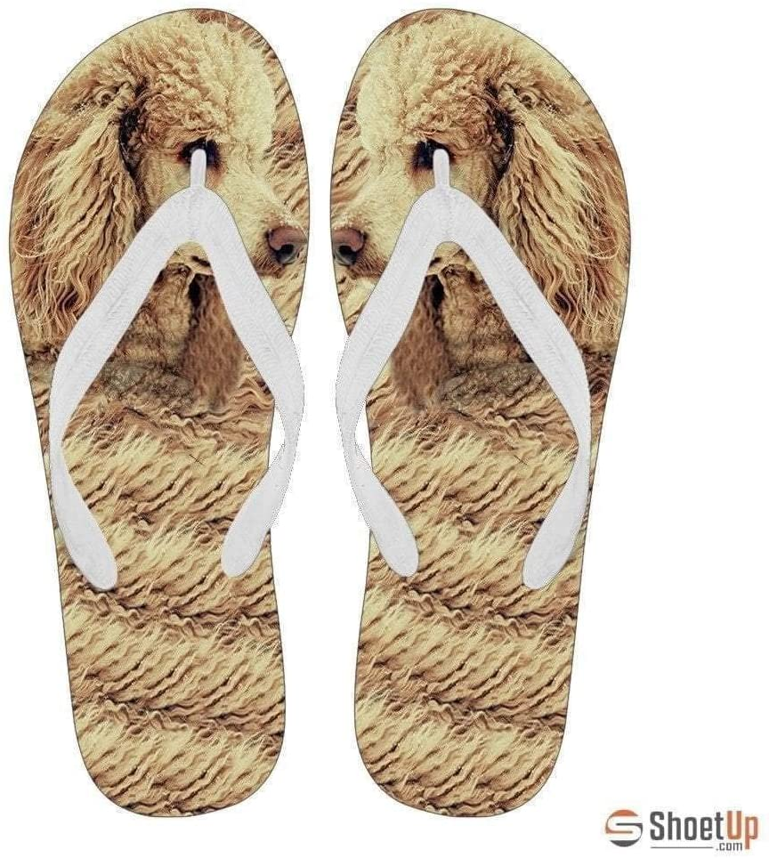 Paws With Attitude Poodle Flip Flops for Women