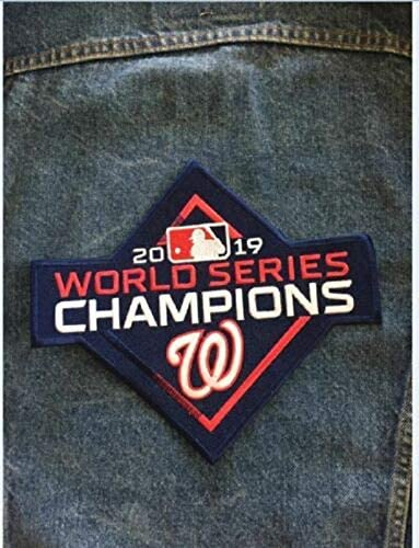Baseball 2019 World Series Champions Nationals Jacket Patch Nationals Champs Patch