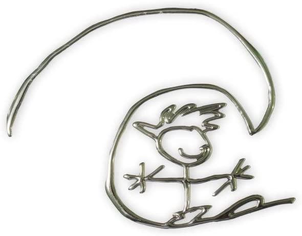 Happyinsurf Adhesive Aluminum Emblem Surfer