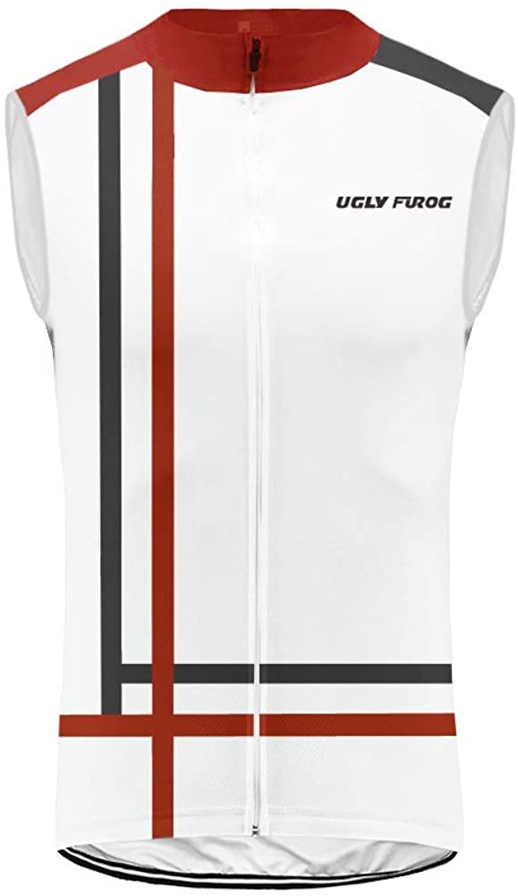 Uglyfrog Sleeveless Cycling Jersey Men Full Zip Bike Shirt Running Top Bicycle Clothes MTB Racing Vest HUS19DJV17