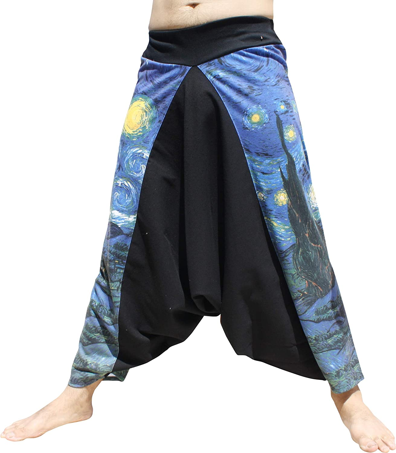 RaanPahMuang Elastic Band Waist Mao Pants Vincent Van Gogh The Starry Night