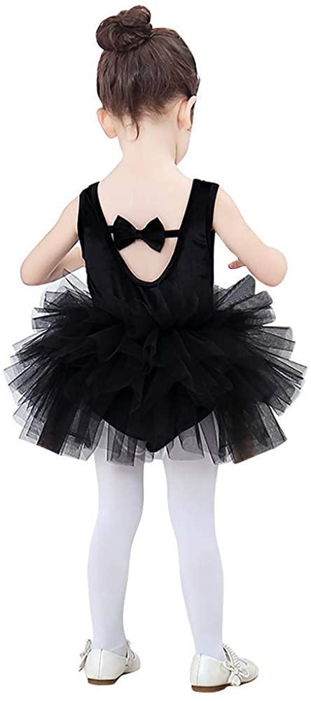 Girls'Camisole Dance Tutu Leotard with Fluffy Tulle Ballet Dress for Toddler Gymnastics High Low Skirted Ballerina Dancewear