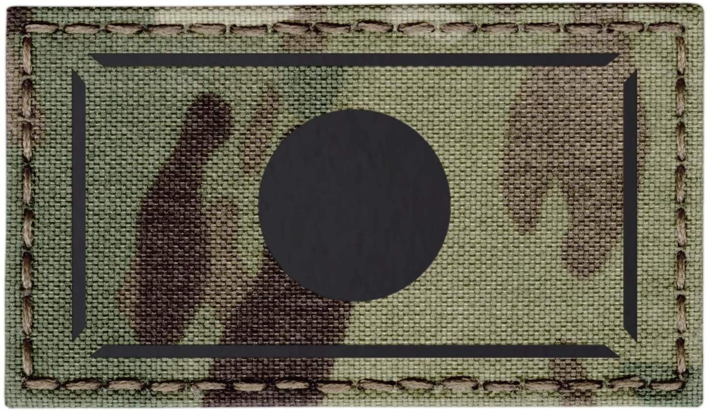 IR Multicam Japan Flag Nippon Nihon 2x3.5 IFF Infrared Tactical Morale Hook&Loop Patch