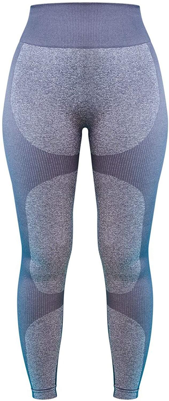 Women's Yoga Workout Legging Capri Pant Seamless 2 Tone Contour Legging