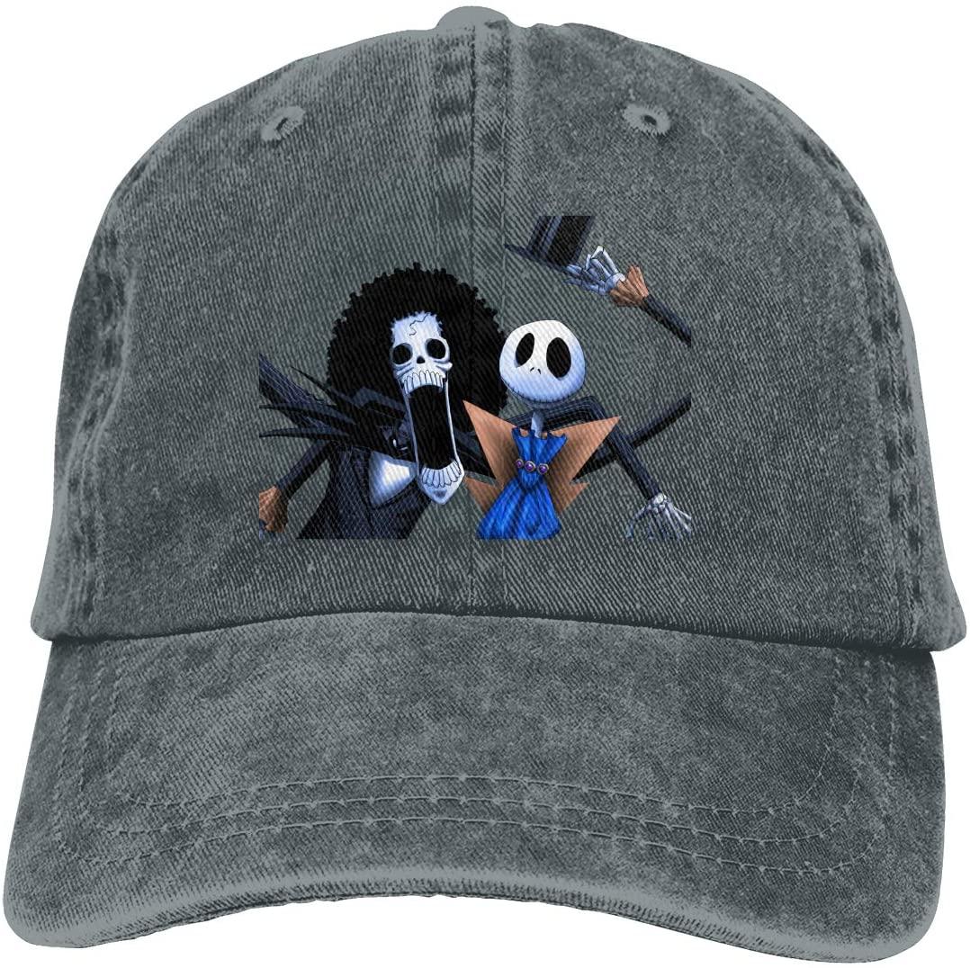 IASIFD Skull Art B-roo-k Unisex Flex-fit Hat Hip Hop Baseball Cap Sun Hat Outdoor Cap Deep Heather