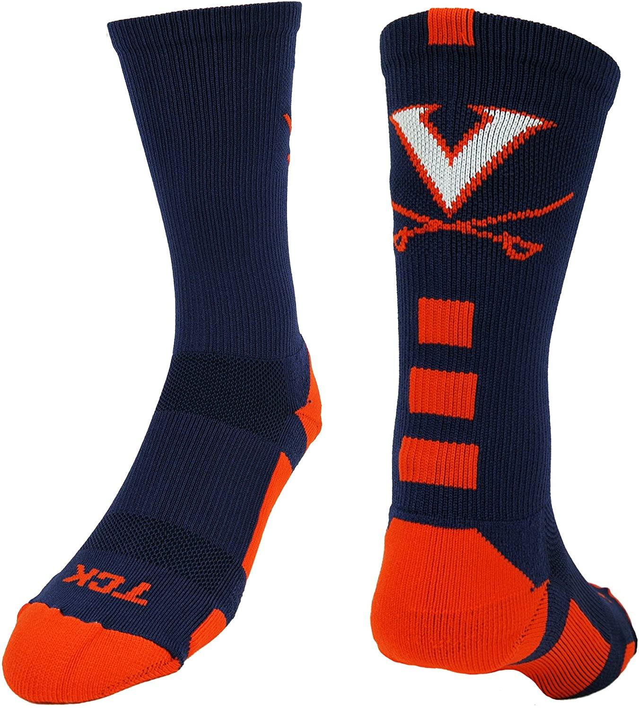 TCK Virginia Cavaliers Socks Baseline Crew