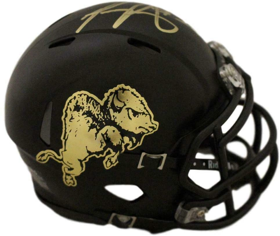 Phillip Lindsay Signed Colorado Buffaloes Chrome Speed Mini Helmet 26474 - JSA Certified - Autographed College Mini Helmets