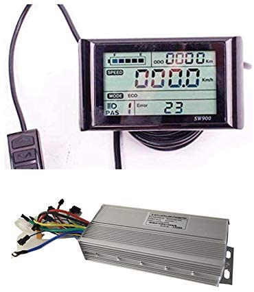 NBpower 72V 40Amax Brushless DC Motor Controller Ebike Controller +72V SW900 LCD Display One Set,Used for E-Bike Kit, Electric Bicycle Conversion kit, Electric Bicycle Part & Accessories.