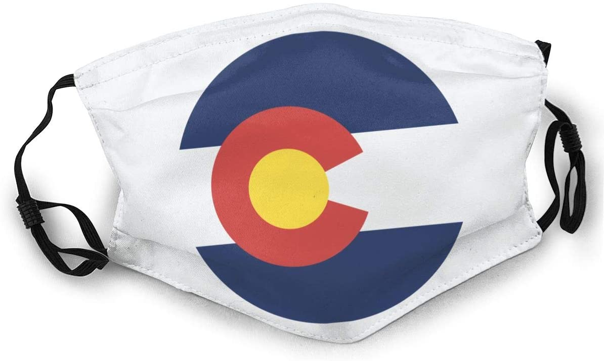 Mr.Wessly Colorado Flag Can Prevent Allergies, Smog, Exhaust Gas and Low Temperature, Allergic Substances, Etc.