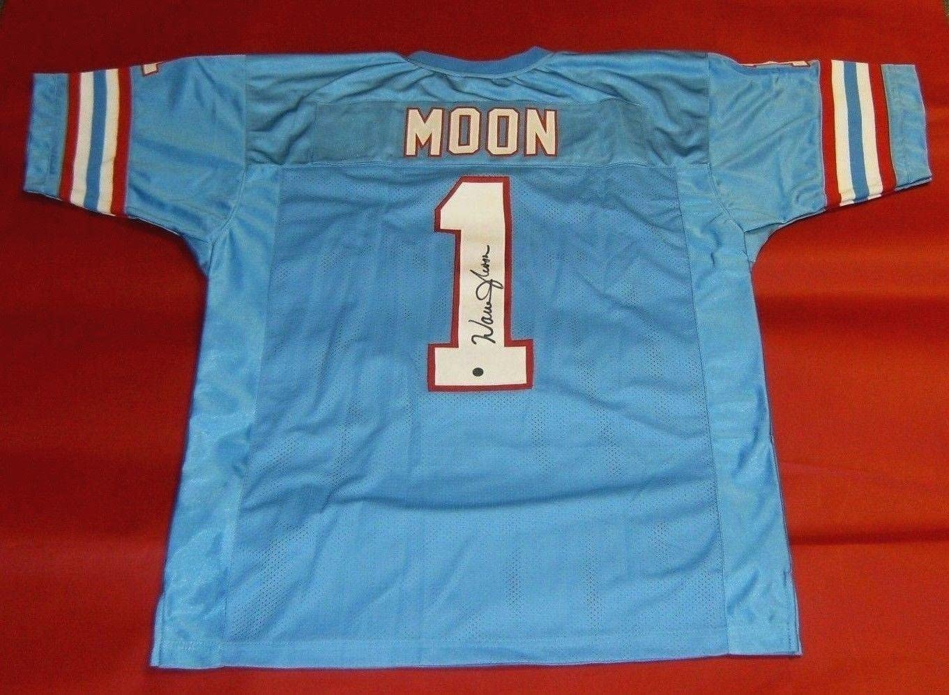 Autographed Warren Moon Jersey - Gtsm - GTSM Certified - Autographed NFL Jerseys